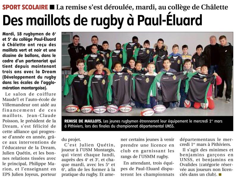 MAILLOTS DREAM COLLEGE PAUL ELUARD
