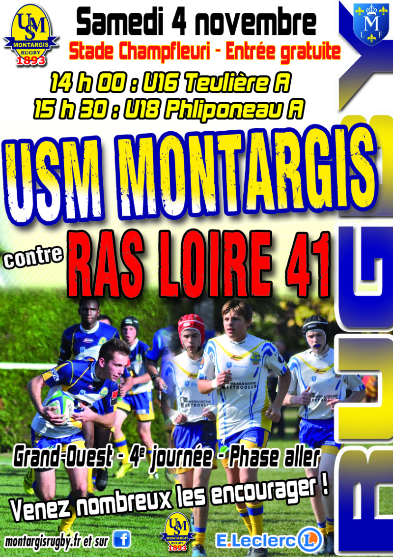 AFFICHE RUGBY CADETS-JUNIORS