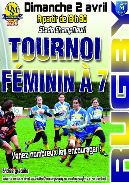 AFFICHE RUGBY féminines