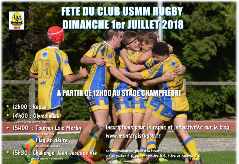 Invitation Fête du club 2018