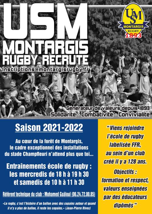 Flyer école de rugby 2021-2022