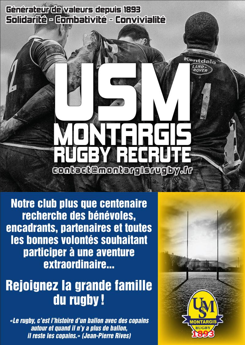Flyer rugby appel à bénévoles