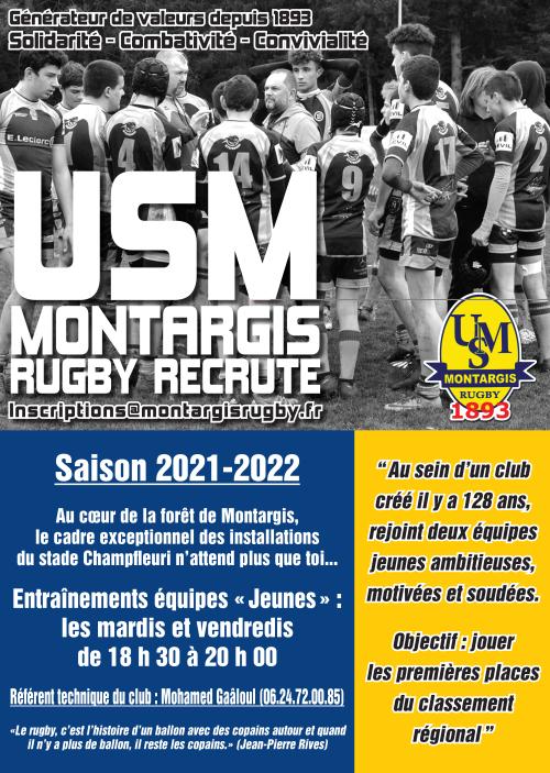 Flyer rugby jeunes 2021-2022